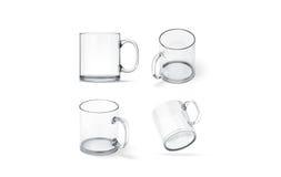 Free Blank Transparent Glass Mug Mock Up Set Isolated, Royalty Free Stock Photos - 92508718
