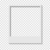 Blank transparent paper Polaroid photo frame. Vector design Stock Illustration