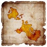 Blank treasure map vector illustration