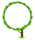 Blank tree frame icon Stock Photos