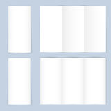 Blank trifold paper leaflet Stock Photography