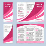 Blank trifold paper leaflet Stock Photos