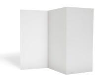 Blank triple leaflet template Stock Photo