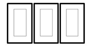 Blank Triptych Picture Frames Royalty Free Stock Image