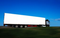 Blank truck Royalty Free Stock Photography