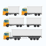 Blank Truck trailer and mini truck set Stock Photography