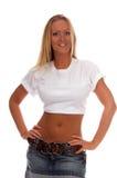blank tshirt Royaltyfria Bilder