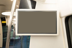 Blank tv billboard Royalty Free Stock Photos