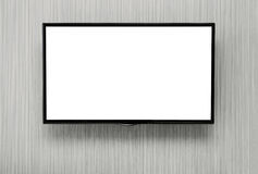 Blank TV with clipping path Royalty Free Stock Photos