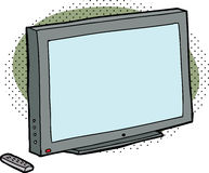 Blank TV with Remote Royalty Free Stock Image