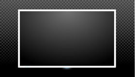 Blank tv screen vector design. Digital wide television concept. Vector flat led or lcd screen mockup Royalty Free Stock Images