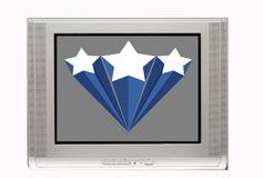 Blank TV with Star banner Stock Image