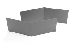 Blank two-fold flyers or leaflets on white. Stock Photos