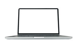 Blank ultrabook mobile computer Royalty Free Stock Image