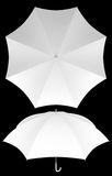 Blank umbrella template isolated Royalty Free Stock Photography