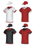 Blank uniform and baseball cap Stock Images