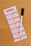 Blank Unmarked Lottery Slip Royalty Free Stock Photos