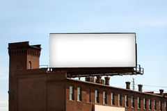Blank Urban Billboard Royalty Free Stock Photos