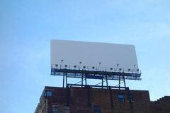 Blank Urban Billboard Stock Photos