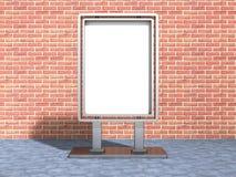 Blank Urban Billboard Banner In Sunlight. 3d Render Illustration Royalty Free Stock Image