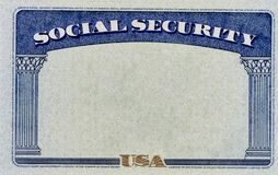 Free Blank US Social Security Background Stock Image - 185185141