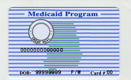 Free Blank USA Medicaid Card Stock Photography - 26202682