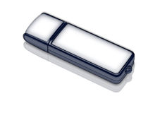 Blank usb memory card Royalty Free Stock Photo