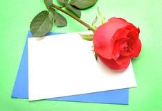 Blank valentine card Stock Image