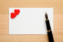 Blank Valentine card Royalty Free Stock Photography