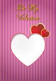 Blank valentine Stock Image