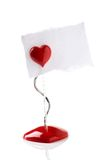 Blank valentine message Royalty Free Stock Photo