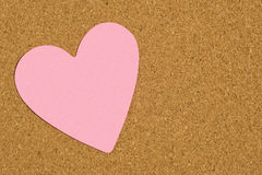 Blank Valentine Postit Note On Office Bulletin Board Royalty Free Stock Photography