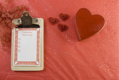 Blank valentine todo list Stock Photos