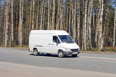 Blank van drives Royalty Free Stock Image