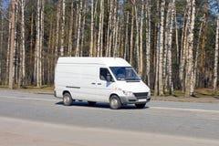 Blank Van Drives Royalty Free Stock Image