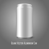 Blank vector aluminium can, for different designs. Blank aluminium can, for different designs of beer, lager, alcohol, soft drinks, soda, lemonade, cola, energy Royalty Free Stock Photos