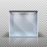 Blank vector aquarium. On a checkered background, vector illustration Stock Illustration