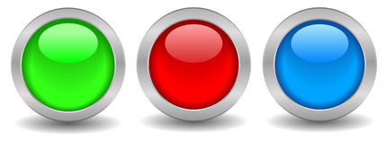 Blank vector button Royalty Free Stock Images