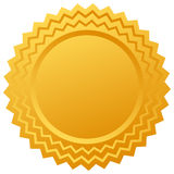 Blank vector gold certificate Stock Images