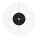 Blank vector gun target, paper shooting target, blank template. For printing Stock Photography