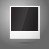 Blank vector instant photo frame in the air. Royalty Free Stock Image