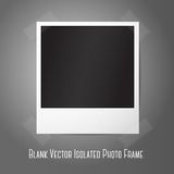 Blank vector instant photo frame, sticked to the. Wall. Template for your photos, design etc with place for your text Royalty Free Stock Images