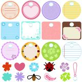 Blank Vector Labels. pastel Tags Royalty Free Stock Photos