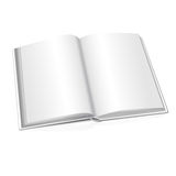 Blank vector opened realistic book on white Royalty Free Stock Photo