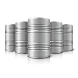 Blank vector realistic big oil barrels  on Royalty Free Stock Images