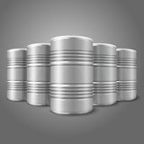 Blank vector realistic blank big oil barrels Royalty Free Stock Image