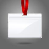 Blank vector realistic horizontal badge holder Stock Photography