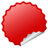 Blank vector sticker Royalty Free Stock Photo