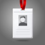 Blank vector vertical badge holder with place for Royalty Free Stock Photo