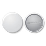 Blank vector white badge with place for your text Stock Image